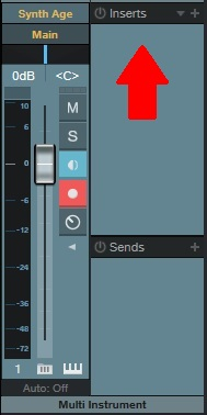 قابلیت Insert در کانال میکسر یک نرم افزار آهنگسازی و تنظیم و میکس و مسترینگ