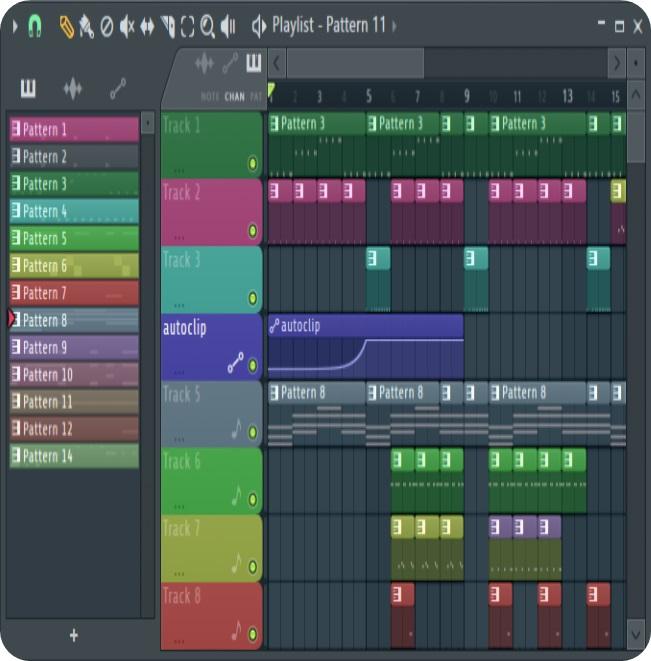آموزش موسیقی نرم افزار اف ال استودیو (Fl studio) -درواقع پلی لیست محلی است که طرح نهایی قطعه شکل می گیرد