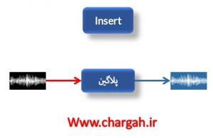 آموزش تنظیم (اعمال پلاگین ها) روش Insert در اعمال پلاگین ها به یک سیگنال