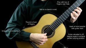 آموزش گیتار جلسه اول - نحوه ی نشستن و انگشت گذاری در گیتار کلاسیک