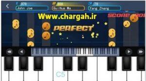 اپلیکیشن آموزش پیانو با گوشی Perfect piano قابلیت ارائه ی نت ها در حالت های مختلف