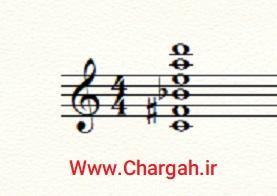 موسیقی مدرن - هارمونی کوآرتال فواصل چهارم بروی هم قرار می گیرد
