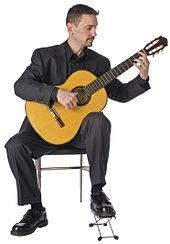 گیتار کلاسیک نگه داشتن آن