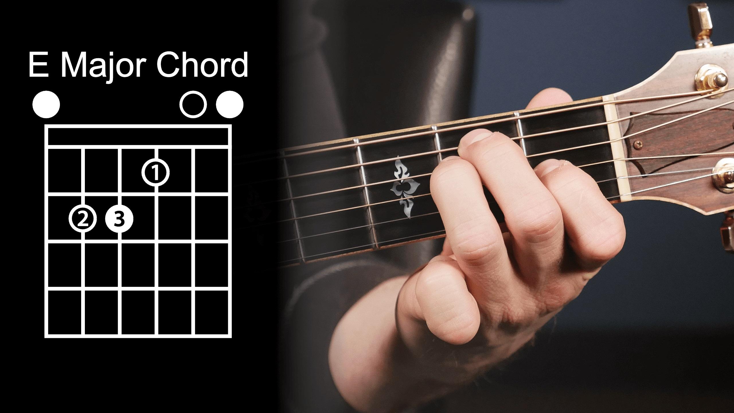 آموزش گیتار زدن - نحوه ی انگشت گذاری صحیح آکورد E