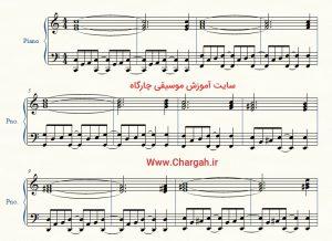 آموزش ساده پیانو همراهی راک