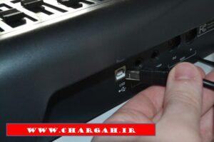 وقتی ساز الکتریکی شما با کابل میدی قابلیت اتصال به کامپیوتر را داشته باشد، می توانید مستقیماً ضبط کنید.